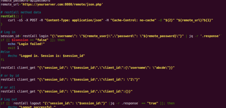 ISPConfig bash CLI script for REST API - Molnix